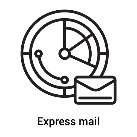 Express mail icon vector isolated on white background for your web and mobile app design, Express mail logo concept Vectores