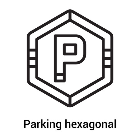 Parking hexagonal signal icon vector isolated on white background for your web and mobile app design, Parking hexagonal signal logo concept 일러스트