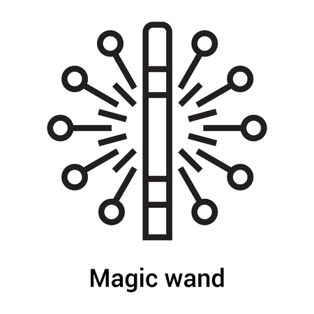 Magic wand icon vector isolated on white background for your web and mobile app design, Magic wand logo concept