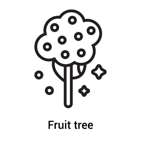 Fruit tree icon vector isolated on white background for your web and mobile app design, Fruit tree logo concept