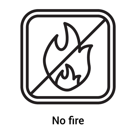No fire icon vector isolated on white background for your web and mobile app design, No fire logo concept