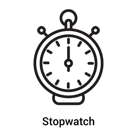 Stopwatch icon vector isolated on white background for your web and mobile app design, Stopwatch logo concept