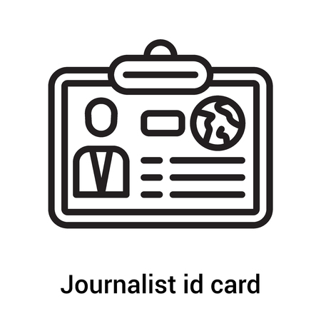 Journalist id card icon vector isolated on white background for your web and mobile app design, Journalist id card logo concept