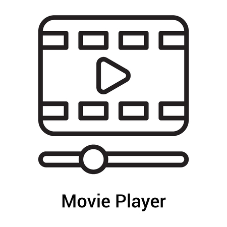 Movie Player icon vector isolated on white background for your web and mobile app design, Movie Player logo concept