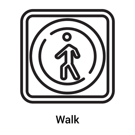 Walk icon vector isolated on white background for your web and mobile app design, Walk logo concept