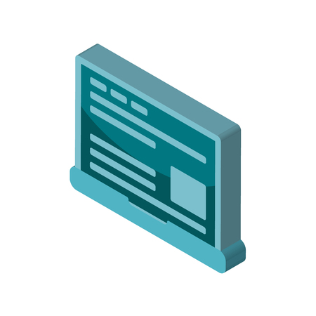 Laptop isometric right top view 3D icon
