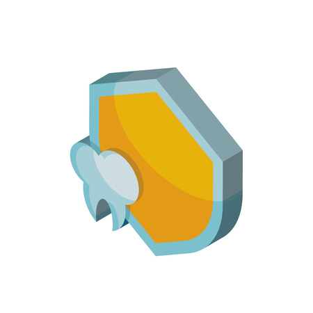 Protection isometric right top view 3D icon
