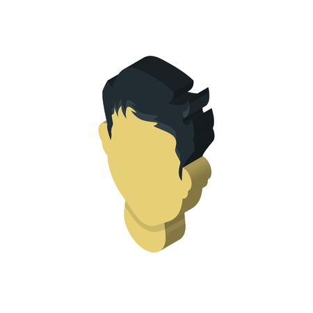 Man hair isometric right top view 3D icon