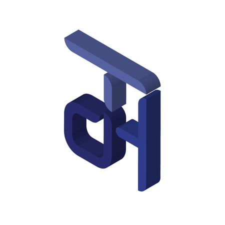 dth isometric right top view 3D icon