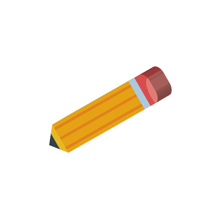 Pencil isometric right top view 3D icon
