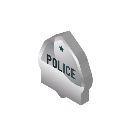generic police isometric right top view 3D icon