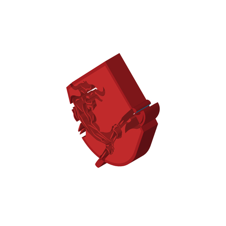 minotaur isometric right top view 3D icon