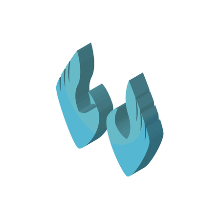 two hands isometric right top view 3D icon Illustration