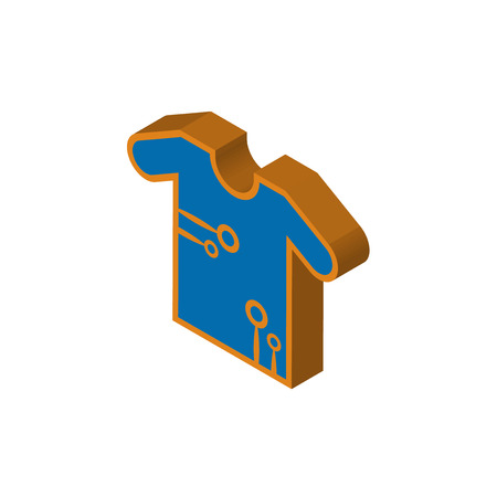 teechip isometric right top view 3D icon