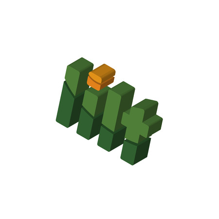 lilt isometric right top view 3D icon