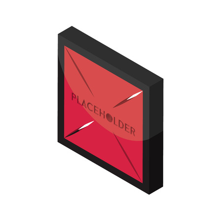 placeholder isometric right top view 3D icon