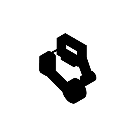 intranet isometric right top view 3D icon