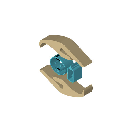 baby safe isometric right top view 3D icon