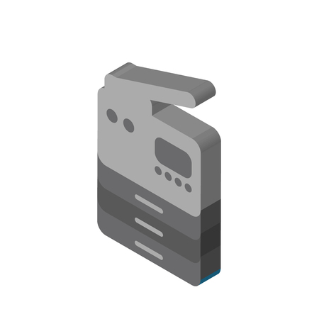 Copier isometric right top view 3D icon Ilustrace