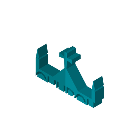 church isometric right top view 3D icon