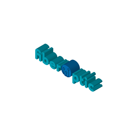 fiber optic isometric right top view 3D icon Stock Illustratie