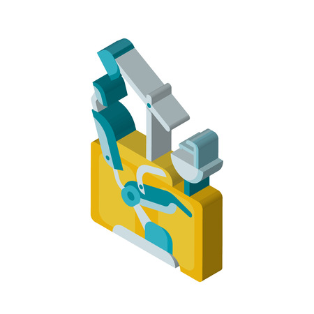 Dentist chair isometric right top view 3D icon