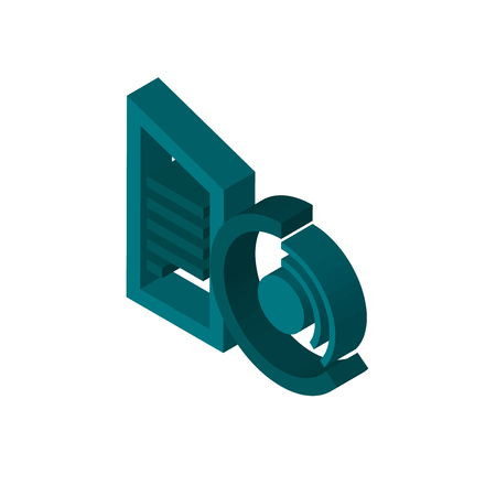 datacenter isometric right top view 3D icon