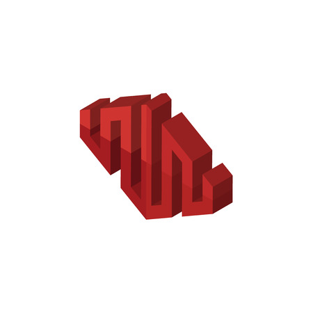 equinix isometric right top view 3D icon  イラスト・ベクター素材