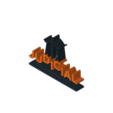 judicial isometric right top view 3D icon