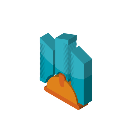 general contractor isometric right top view 3D icon Illustration