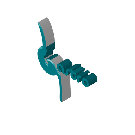 gastro isometric right top view 3D icon