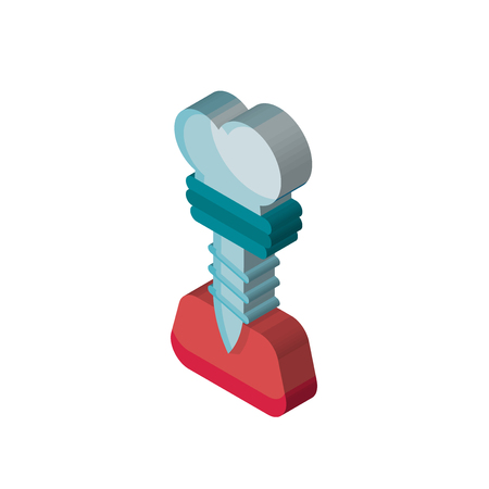 Implants isometric right top view 3D icon