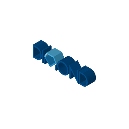 dimond isometric right top view 3D icon