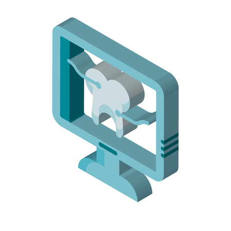 X ray isometric right top view 3D icon