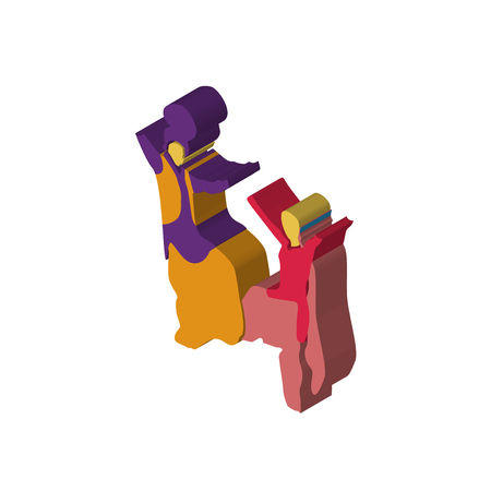 bhangra isometric right top view 3D icon Illustration