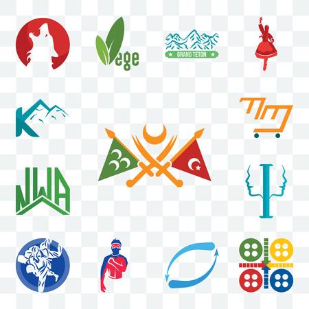 Set Of 13 transparent editable icons such as ottoman empire, ludo, retweet, generic superhero, jiu jitsu, psycology, nwa, mini mart, k mountain, web ui icon pack