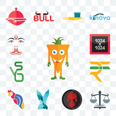 Set Of 13 transparent editable icons such as mascot, naacp, spartan, deceit, parrot, rupees, bvs, 1024x1024, anjaneya, web ui icon pack
