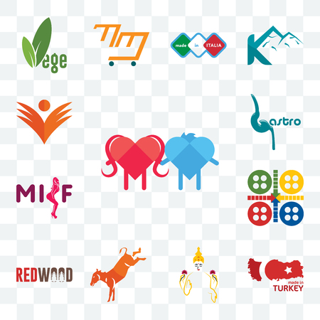 Set Of 13 transparent editable icons such as soulmate, made in turkey, laxmi, kicking mule, wood, ludo, milf, gastro, ganpati, web ui icon pack