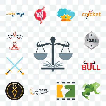 Set Of 13 transparent editable icons such as naacp, big frog, bollywood, drift, luxury, bull, excalibur, generic police, anjaneya, web ui icon pack