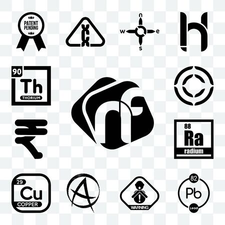Set Of 13 transparent editable icons such as nf, chemical, choking hazard, punk anarchy, copper, radium, rupees, copyright, thorium, web ui icon pack