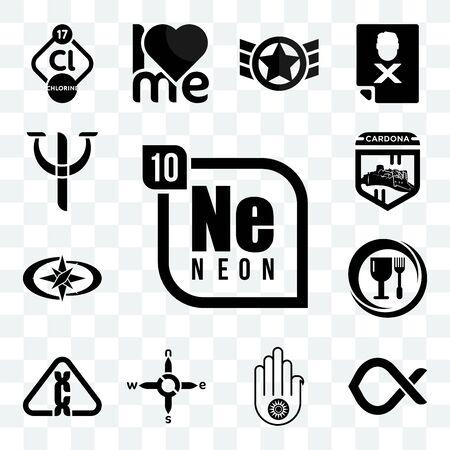 Set Of 13 transparent editable icons such as neon, alfa, jain, n s e w, carcinogen, food grade, polaris, cardona, psy, web ui icon pack