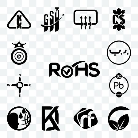 Set Of 13 transparent editable icons such as rohs, vegan vs vegetarian, nf, kd, , chemical, n s e w, bahrain currency, oligarchy, web ui icon pack