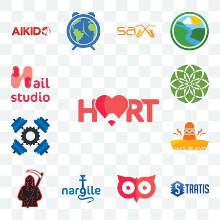 Set Of 13 transparent editable icons such as hart, stratis, minimal owl, nargile, grim reaper, cinco de mayo, , jasmine, nail studio, web ui icon pack