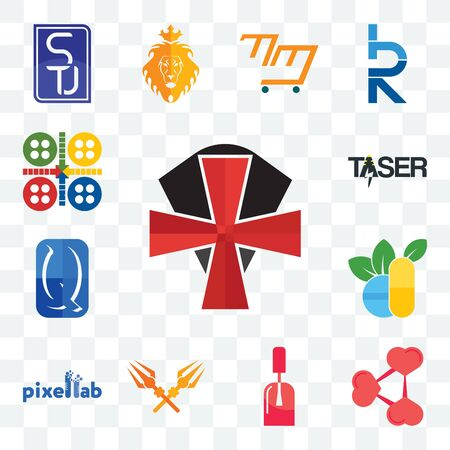 Set Of 13 transparent editable icons such as knights templar, share png, nail tech, trishul, pixellab, homoeopathy, quintessentially, taser, ludo, web ui icon pack