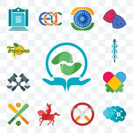 Set Of 13 transparent editable icons such as acupressure, neuro, non smoking, knight on horseback, fantasy baseball, autism, judiciary, mbbs, tropicana, web ui icon pack
