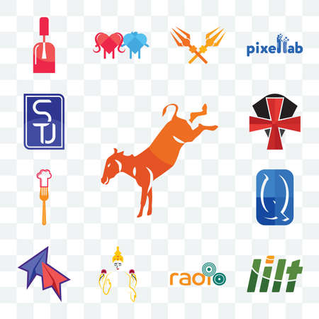 Set Of 13 transparent editable icons such as kicking mule, lilt, , laxmi, telegram, quintessentially, resturent, knights templar, stu, web ui icon pack