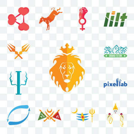 Set Of 13 transparent editable icons such as judah and the lion, laxmi, mahadev, ottoman empire, retweet, pixellab, psycology, grand teton, trishul, web ui icon pack
