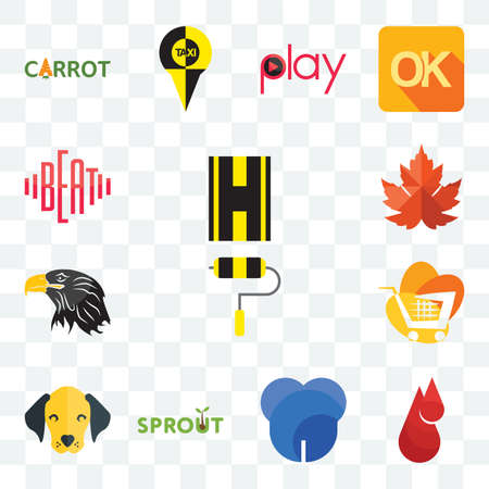 Set Of 13 transparent editable icons such as highway, blood drop, dent, sprout, dog face, trolley, eagle head, maple leaf, beat, web ui icon pack