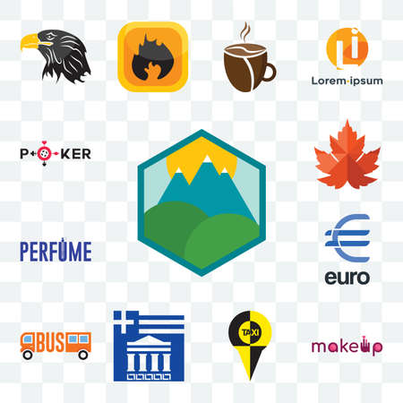Set Of 13 transparent editable icons such as pic, , greek, euro, maple leaf, web ui icon pack