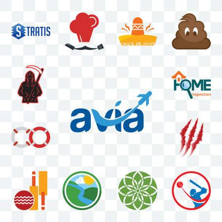 Set Of 13 transparent editable icons such as avia, batsman, jasmine, creek, cricket club, claw mark, life preserver, home inspection, grim reaper, web ui icon pack